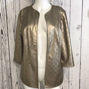 Chico's Travelers Collection rose gold jacket